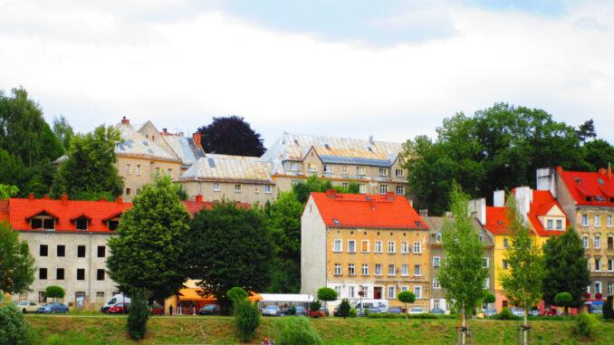 Scultetushof vom Westufer in Görlitz aus