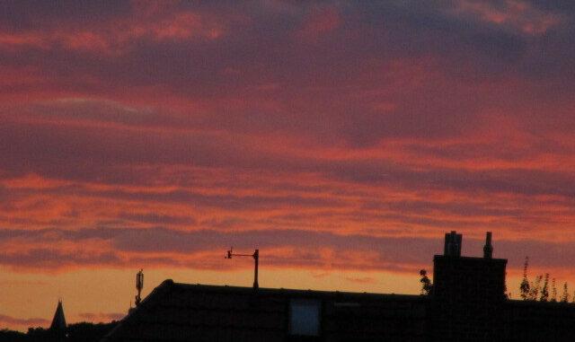 Abendrot Görlitz 29.7.2015