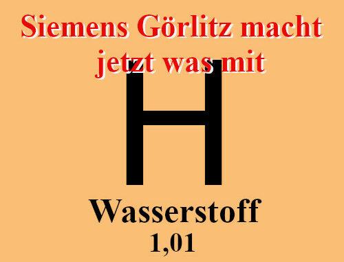 Wasserstoff Siemens Görlitz