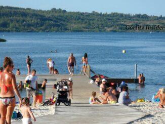 Berzdorfer See Blaue Lagune Steg