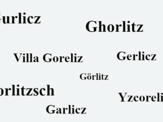 Viele Namen von Goerlitz seit 1071