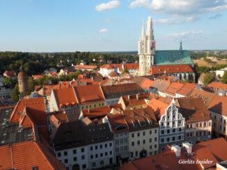 Blick vom Rathausturm auf Görlitz