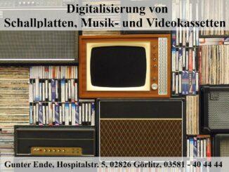 Digitalisierung-VHS-Musik-Schallplatte-in-Görlitz-Gunter-Ende