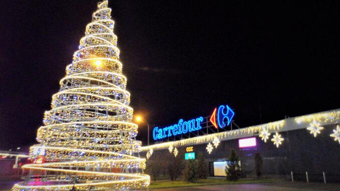 Weihnachtsbaum-Carrefour-Zgorzelec