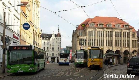 Demianiplatz Görlitz Bus Strassenbahn Haltestelle