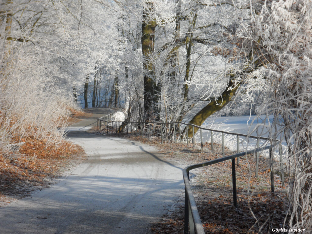 Neißetal Görlitz Eiszauber