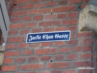 Schild-Jackie-Chan-Gasse-Görlitz-Brauerei