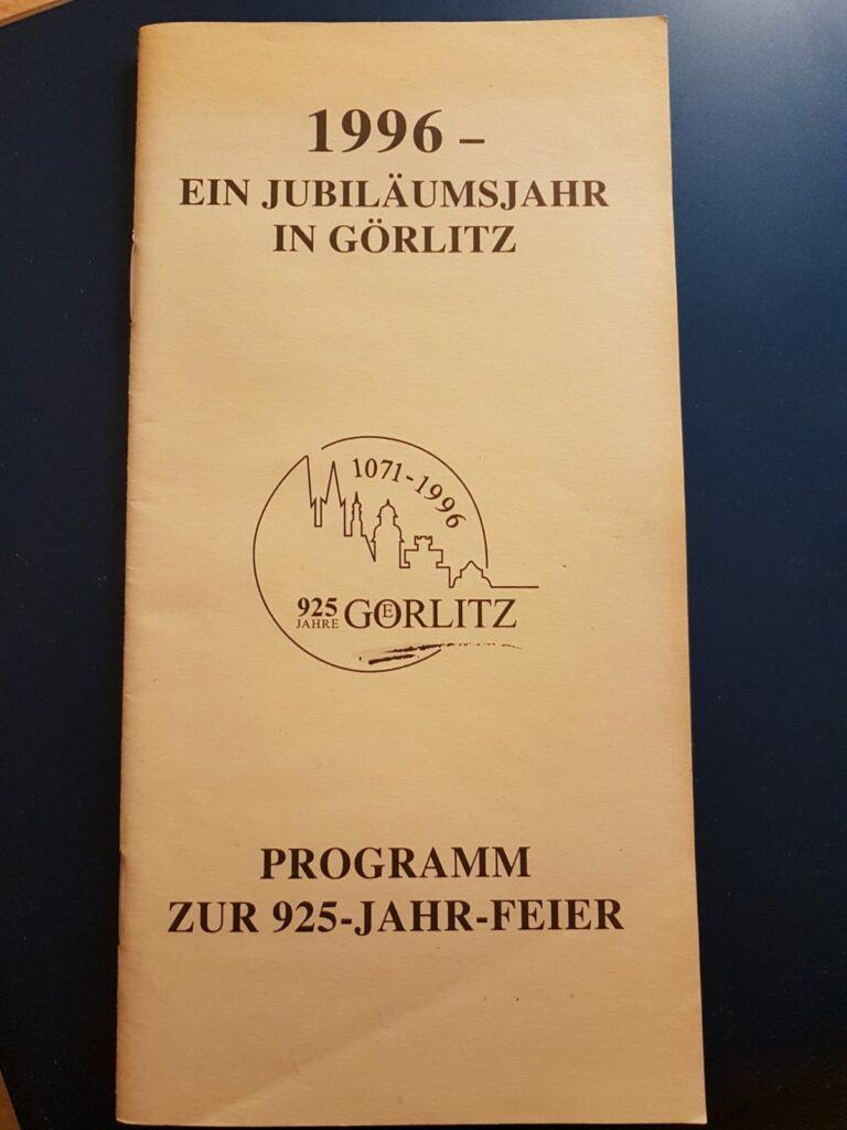 Vorderseite Programmheft 925 Jahr Feier
